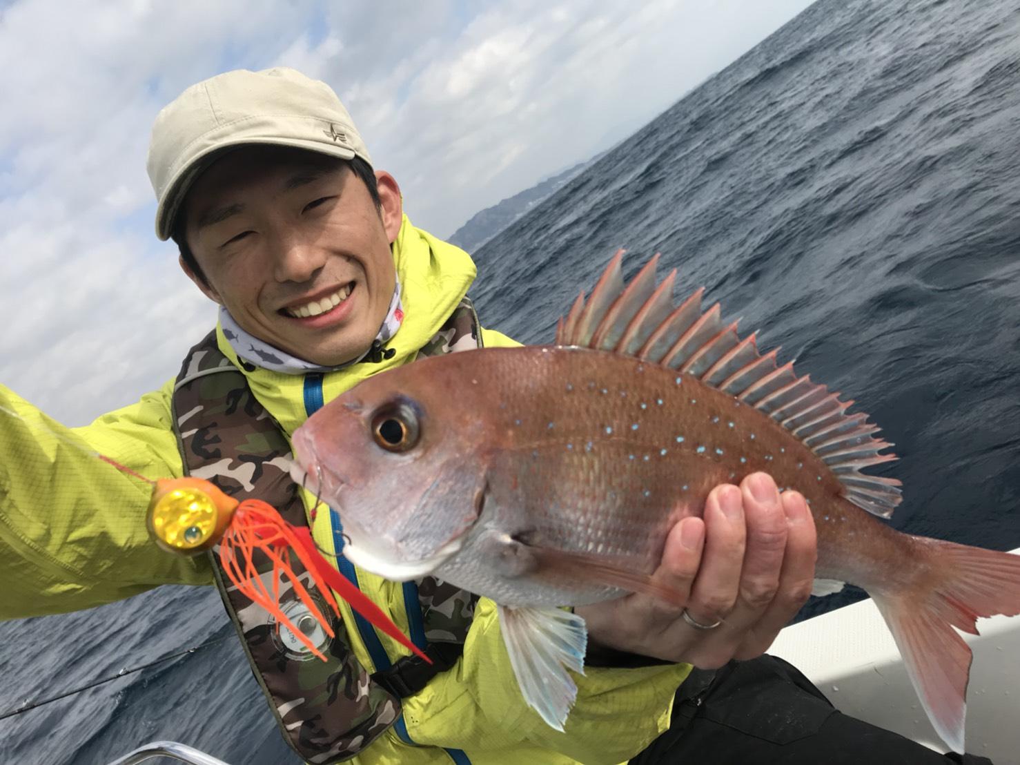 スタッフ石井釣行記〜タイラバ ・マダイ/3匹、ショゴ/1匹〜