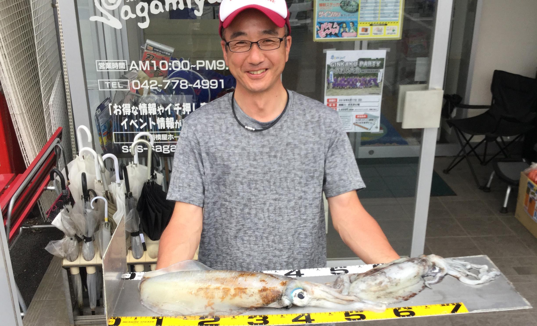 相模原市・野口様〜アオリイカ1.82kg含む/2杯・スズキ 80cm/1匹〜