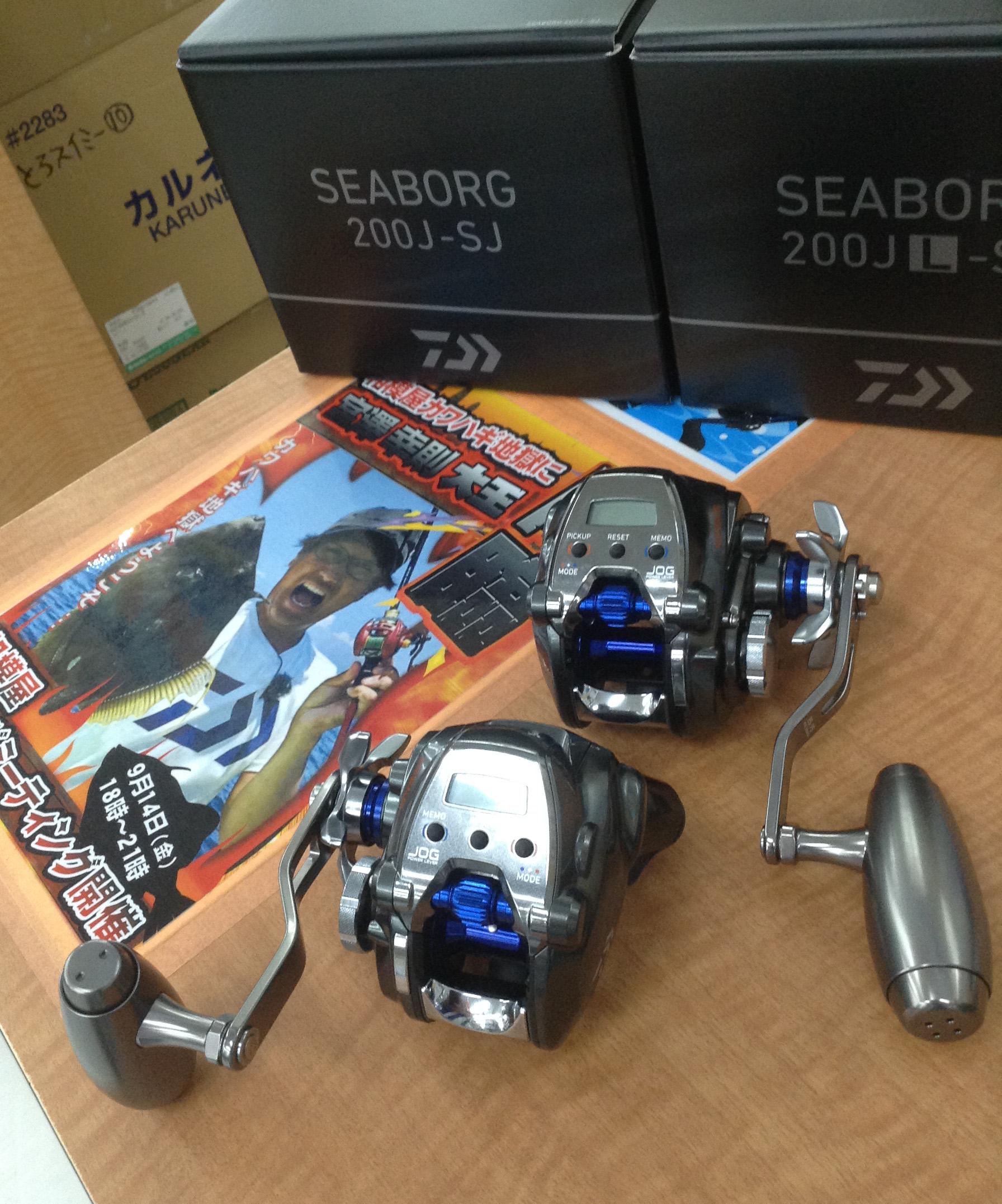 新製品入荷!電動スロージギング専用モデル!ダイワ『シーボーグ200J-SJ・200JL-SJ』