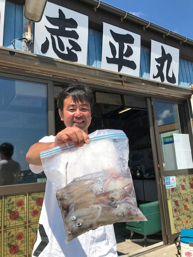 スタッフ小澤釣行記~マルイカ・ムギイカ47杯~