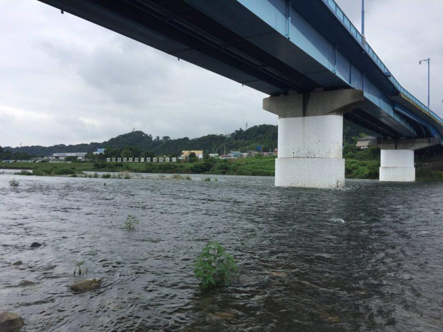 2019年7月17日(水)相模川の様子(ダム放流中)