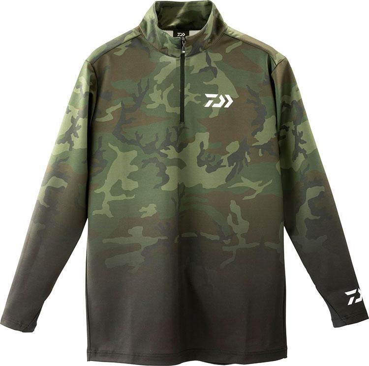 吸湿発熱素材!DAIWA『DE-33009 ブレスマジックハーフジップシャツ』