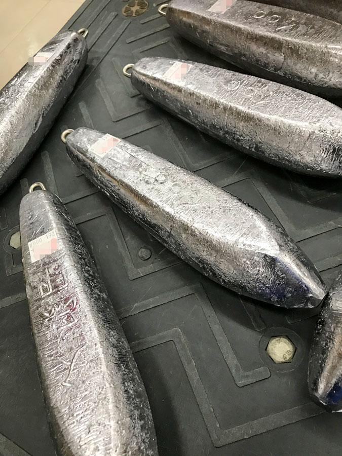 脇漁具『下オモリ六角型800号』