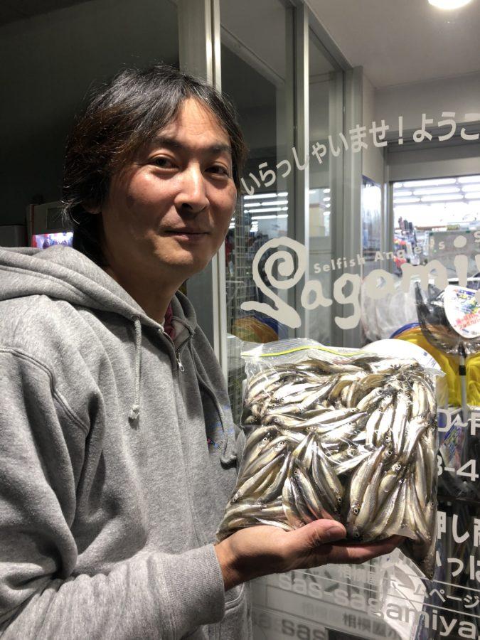多摩市・吉村様〜河口湖・ワカサギ10-13cm/1,300匹〜
