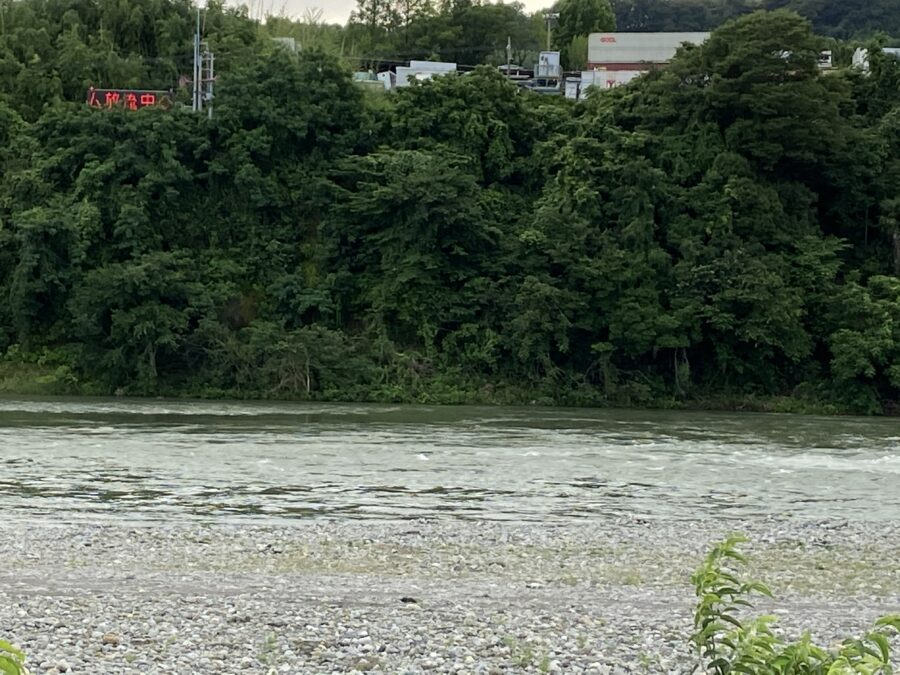 2020年7月8日(水)17時頃の相模川の様子