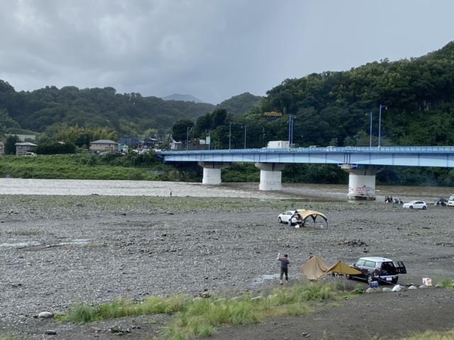 2020年7月25日(土)相模川の様子