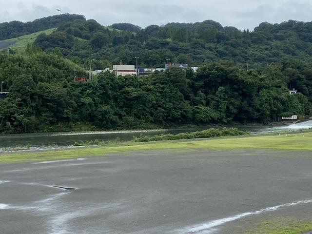 2020年7月17日(金)相模川城山ダム放流中11時30分