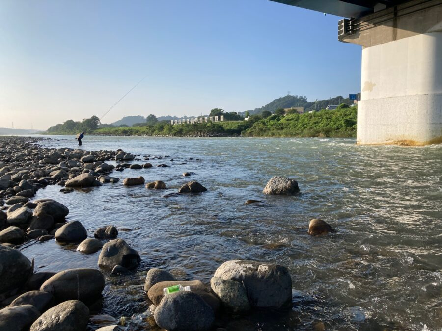 8月7日(金) 6:30頃の相模川の様子 ※鮎友釣り可能です!