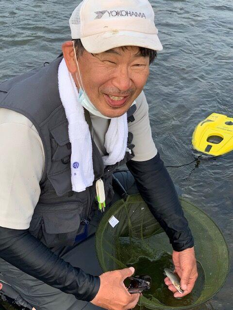 横浜市・奥田様~相模川・アユ約15cm/2匹~