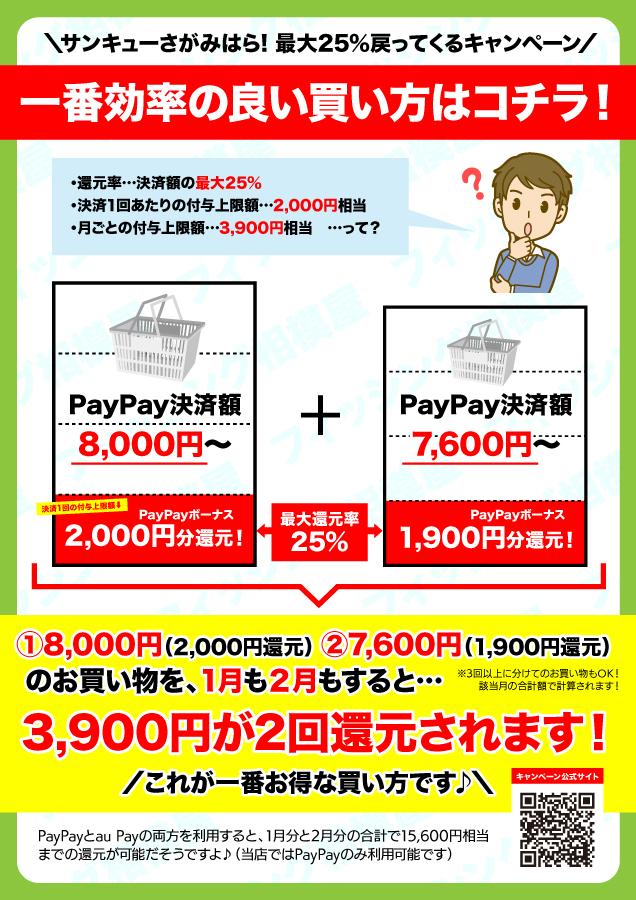 【PayPay・auPay対応!】『サンキューさがみはら! 最大25%戻ってくるキャンペーン』開催中!